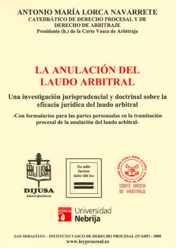 La anulación del laudo arbitral