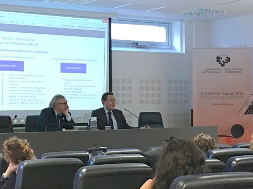 IMPORTANTE CONFERENCIA EN LA FACULTAD DE DERECHO DE LA UNIVERSIDAD DEL PAÍS VASCO SOBRE LA MOTIVACIÓN JUDICIAL
